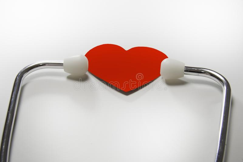 Heart healthy examine with stethescope to insure health royalty free stock photography