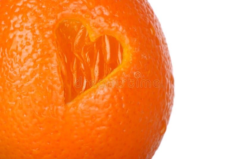 Heart healthy orange stock photo