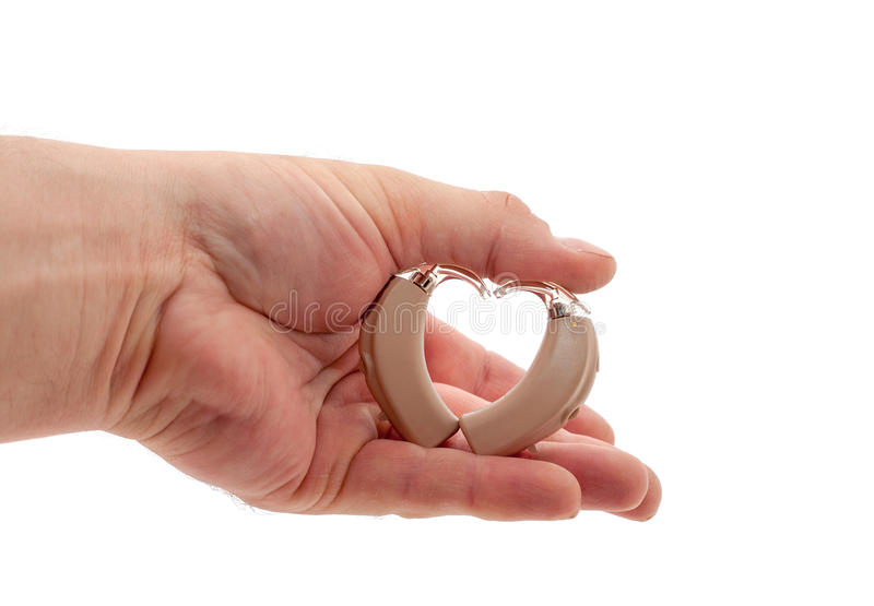 Heart from hearing aids royalty free stock photography