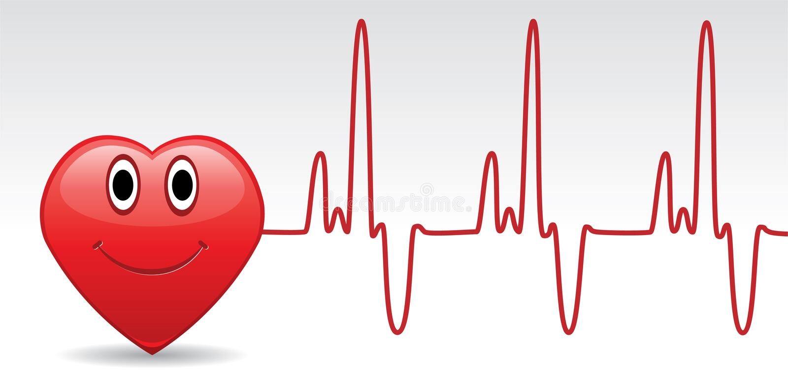 Heart And Heartbeat Stock Image
