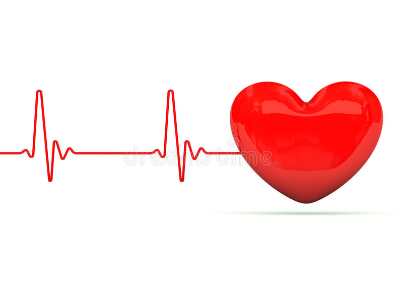 Download Heart with heartbeat stock illustration. Image of palpitation - 17081338