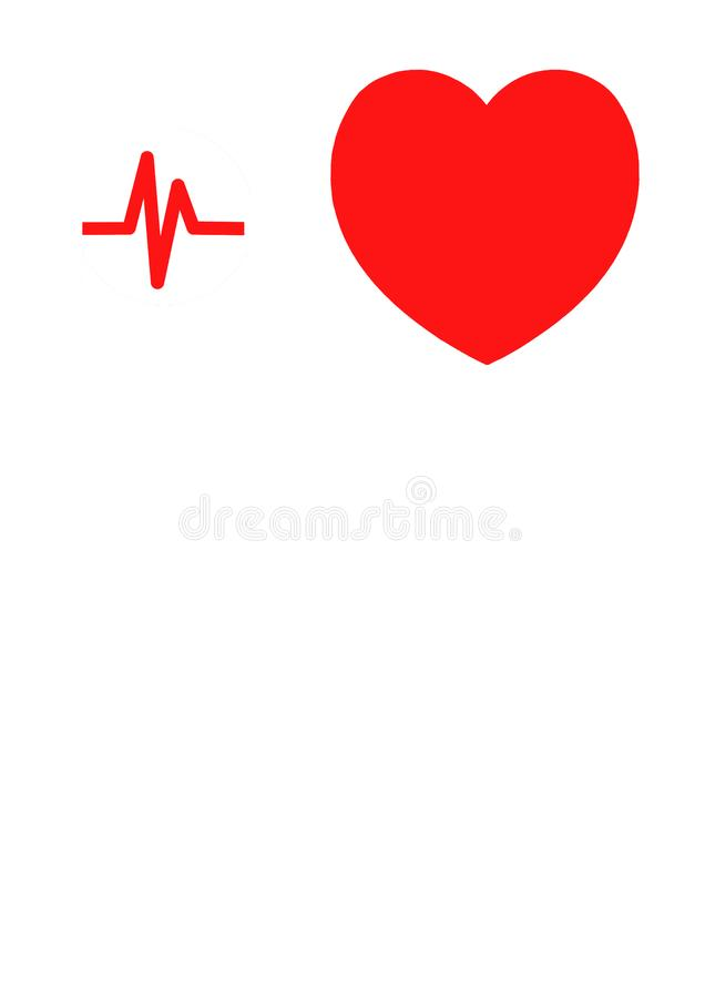 heart and heartbeat icon stock illustration illustration of clip rh dreamstime com heartbeat clipart png heart rate clipart
