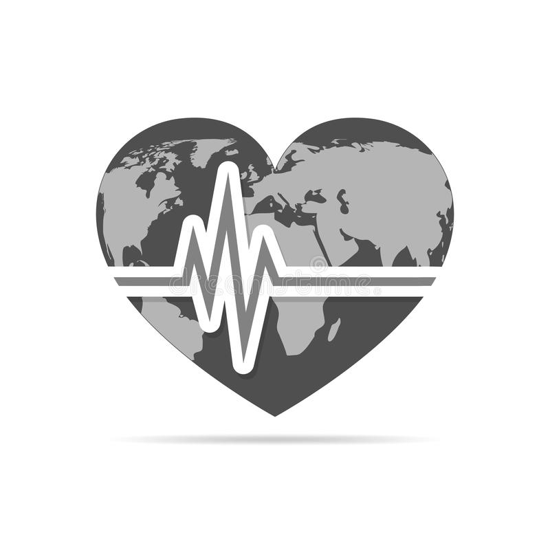 Heart with heartbeat icon and world map vector illustration download heart with heartbeat icon and world map vector illustration stock illustration illustration gumiabroncs Gallery