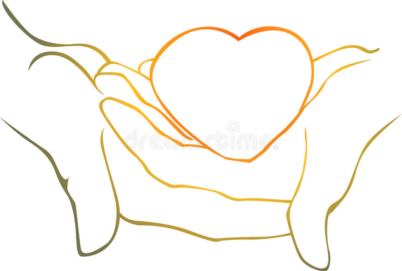 Download Heart in his hands stock photo. Image of support, groom - 22291788
