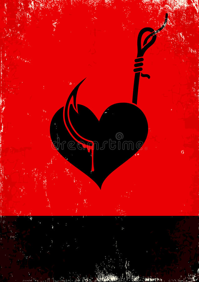 Download Heart on a hook stock vector. Image of cartoon, blood - 22288992