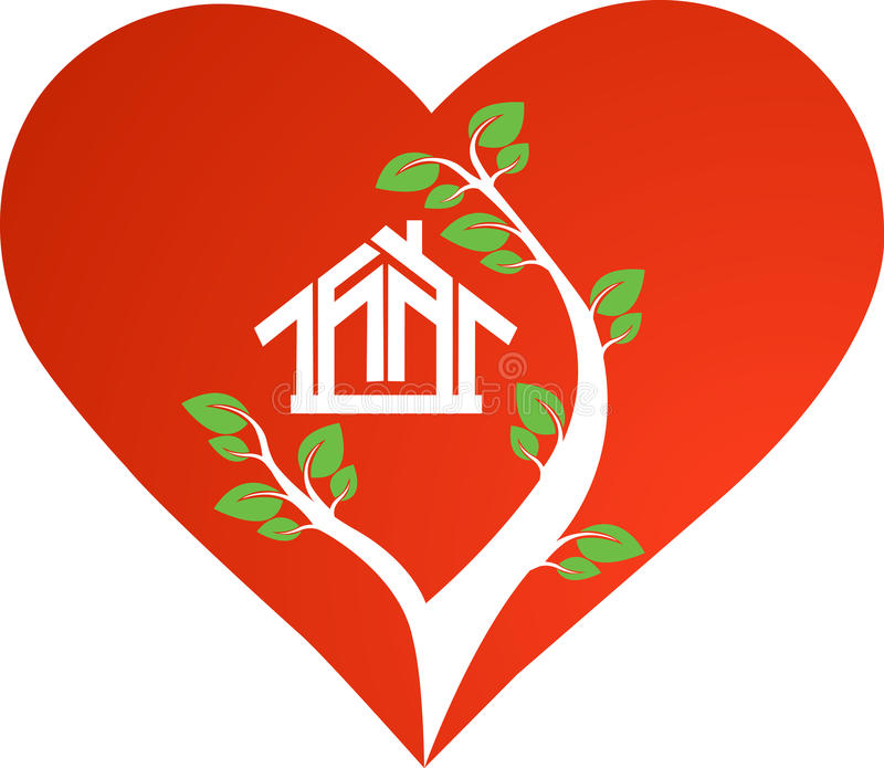 Download Heart house stock illustration. Image of tree, decorative - 26031492