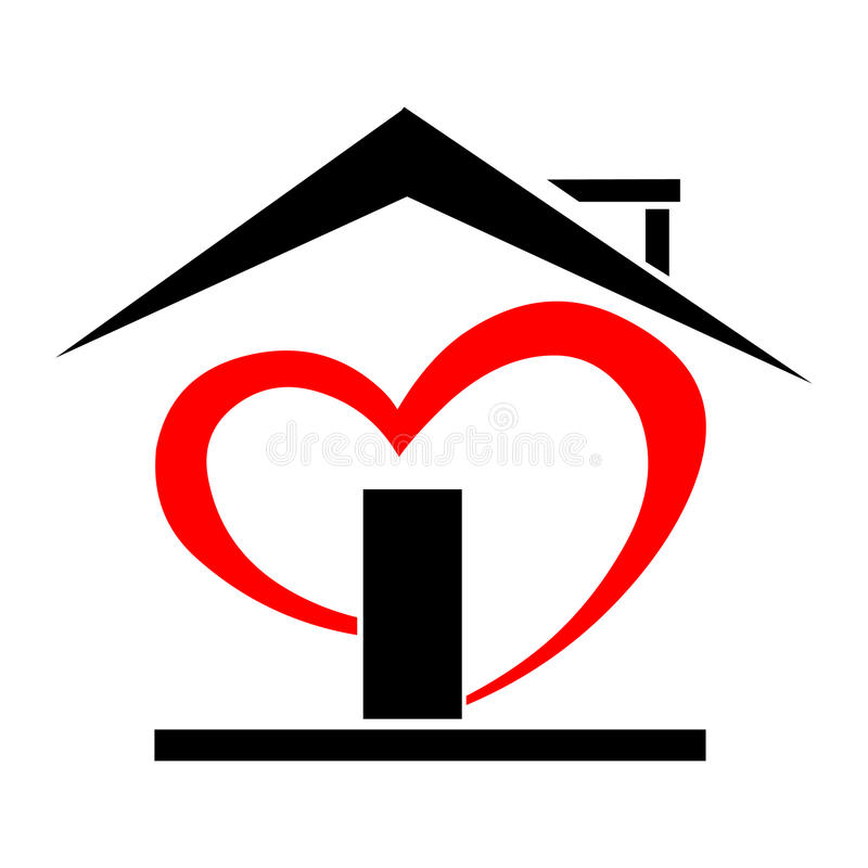 Heart house vector illustration