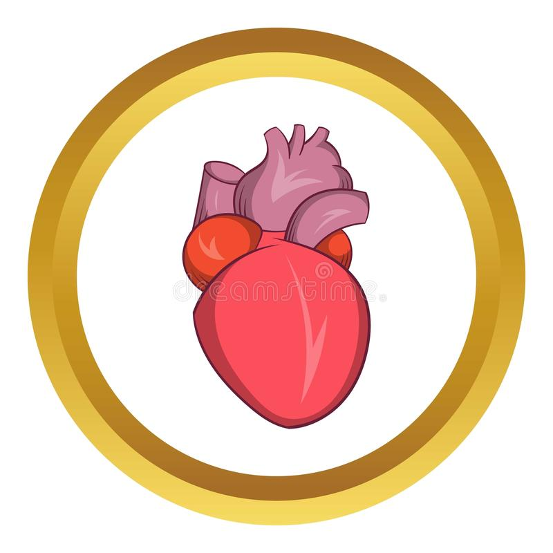 Heart human icon royalty free illustration