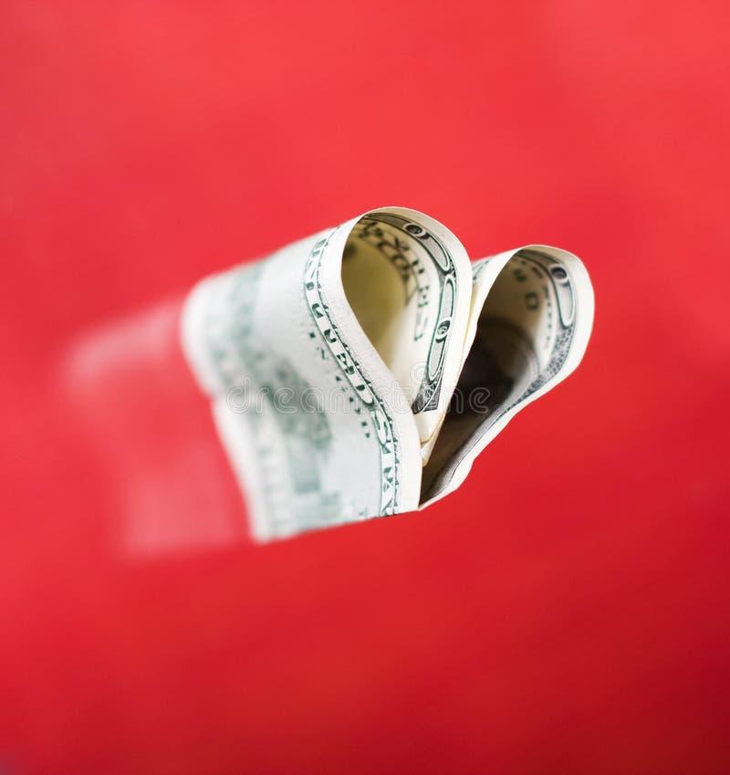 Heart from hundred dollars