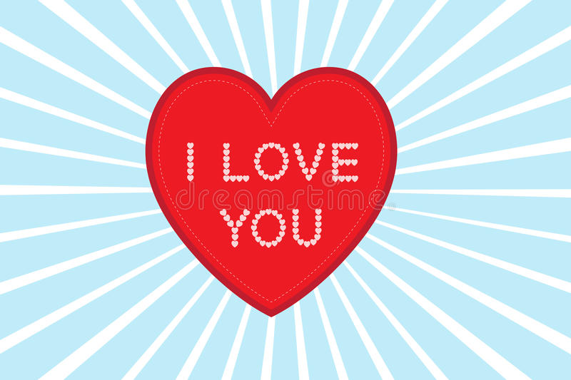 Heart i love you royalty free stock photo