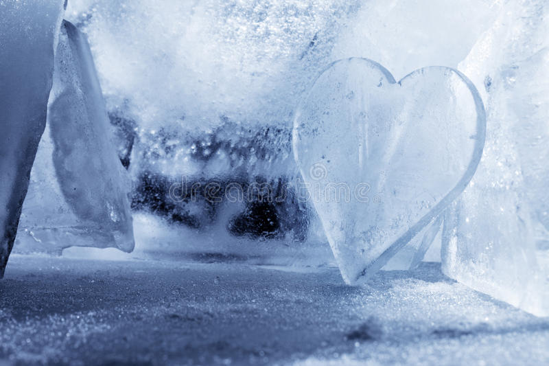 Download Heart of Ice stock image. Image of frozen, symbol, shaped - 23590359