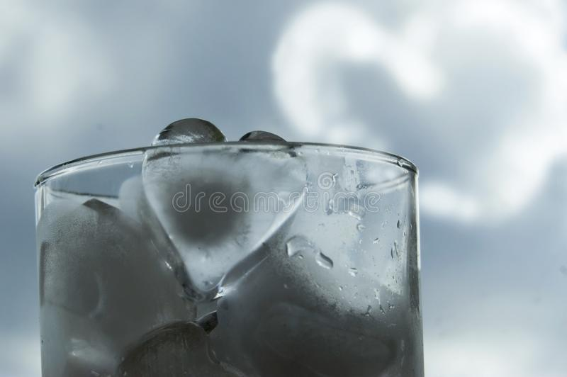 Heart of ice stock photography
