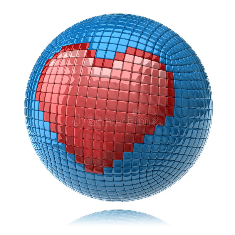 Heart icon. Isolated on white background stock illustration
