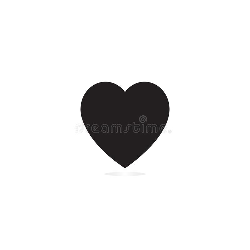 Heart icon black. Heart icon simple royalty free illustration