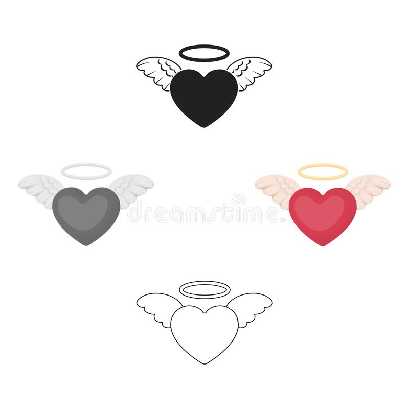 Heart icon in cartoon,black style isolated on white background. Romantic symbol stock vector illustration. Heart icon in cartoon,black style isolated on white vector illustration