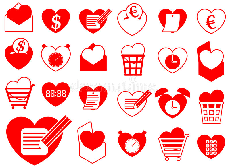 Heart icon collection - business and office