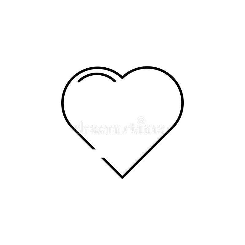 heart icon. Element of simple icon in material style for mobile concept and web apps. Thin line icon for website design and develo stock illustration