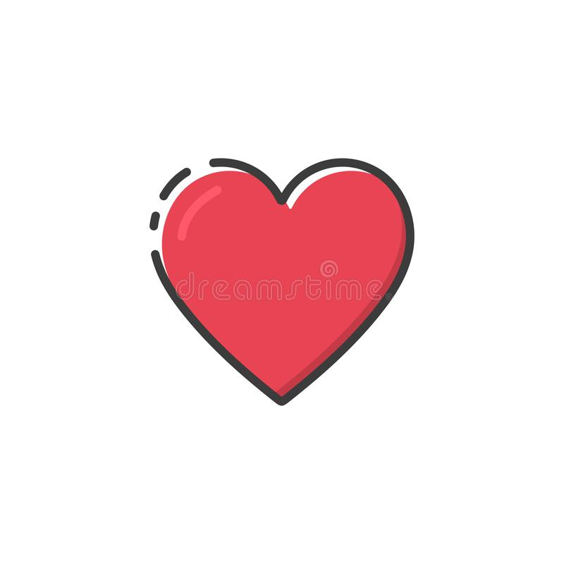 Heart icon in a flat design. Vector illustration vector illustration