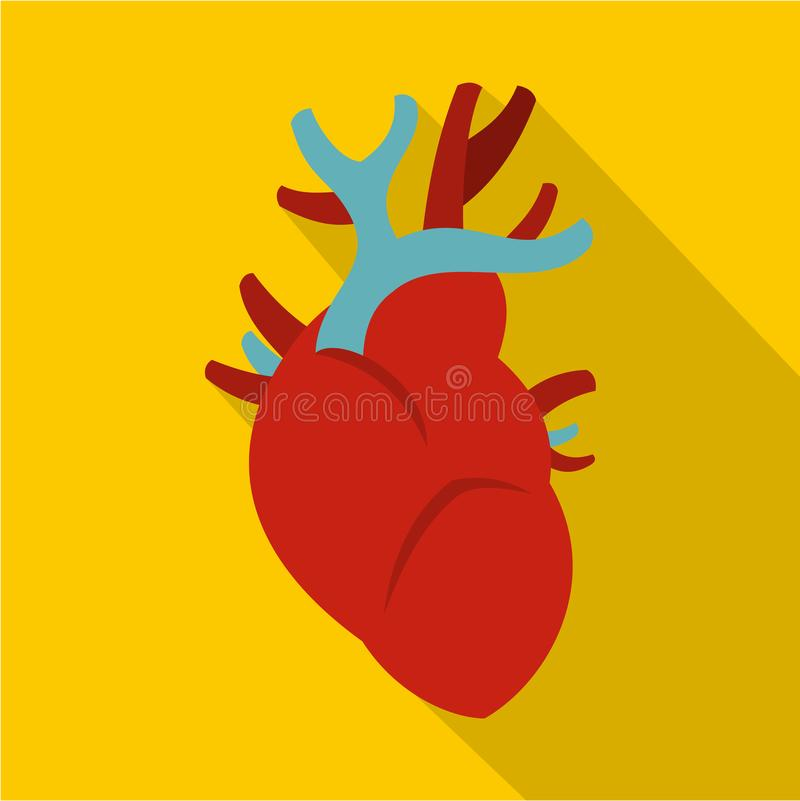 Heart icon, flat style vector illustration