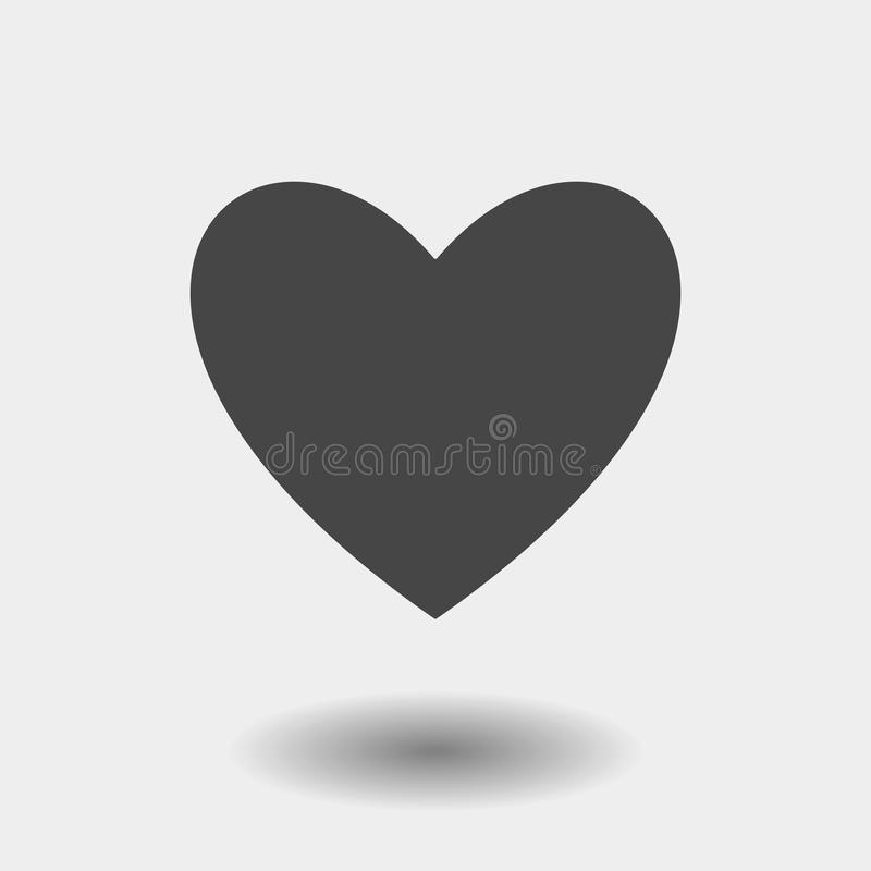 Heart icon. Flat love symbol isolated on white background. Trendy internet concept. Modern sign for vector illustration