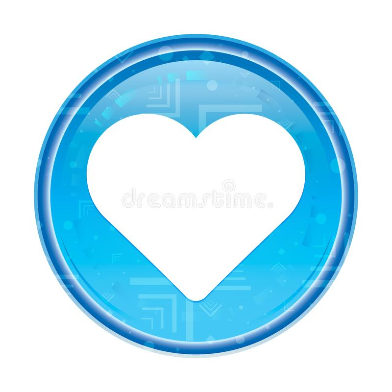 Heart icon floral blue round button. Heart icon isolated on floral blue round button stock illustration