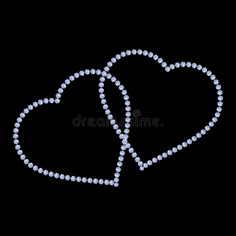 Heart icon. Golden glitter silhouette,metal sign shape isolated on black background. Vector Illustration. Symbol of happy love. Va vector illustration