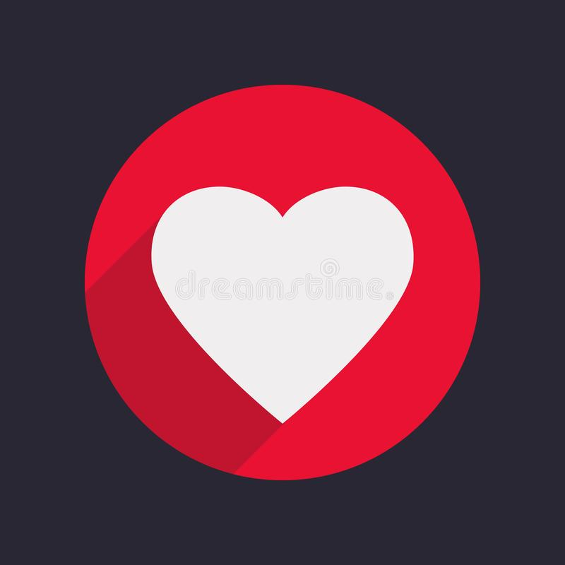 Heart Icon Isolated in Flat Style. royalty free illustration