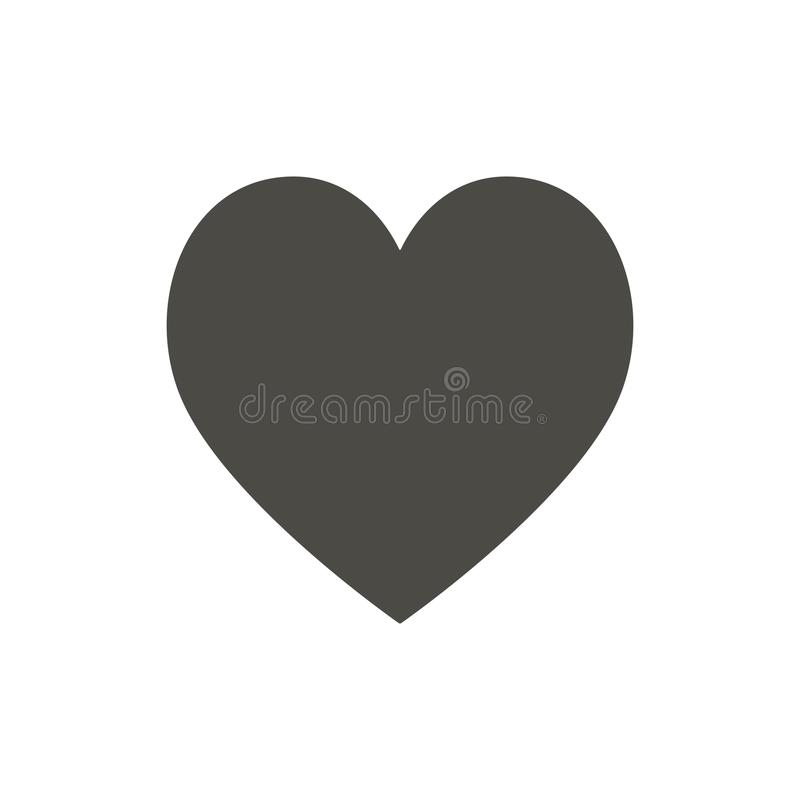 Heart icon, like vector. Love symbol. Trendy flat ui sign design. Heart graphic pictogram for web si royalty free illustration