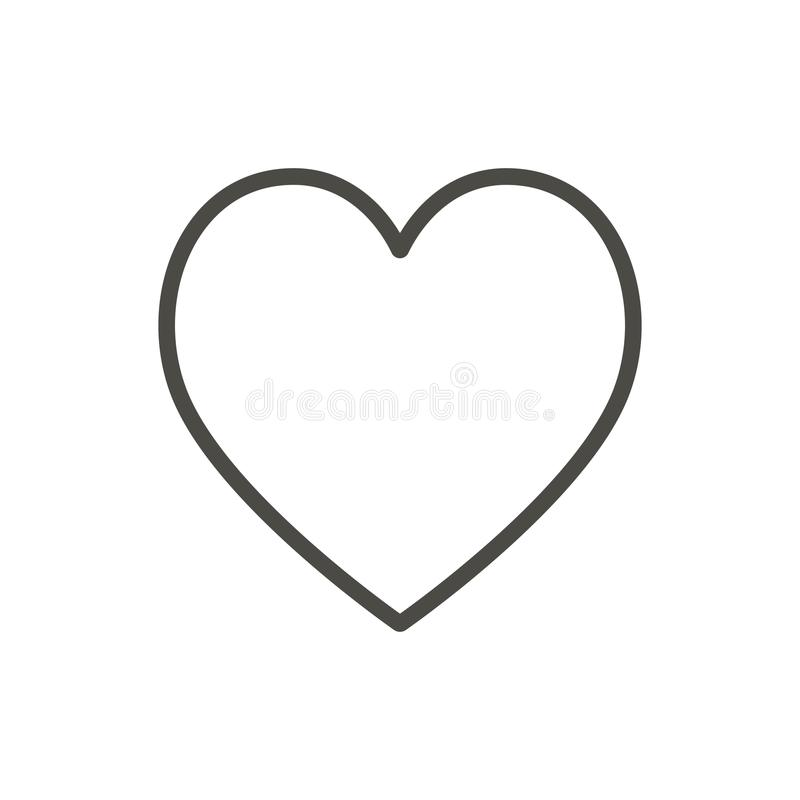 Heart icon, line vector. Outline love symbol. royalty free illustration