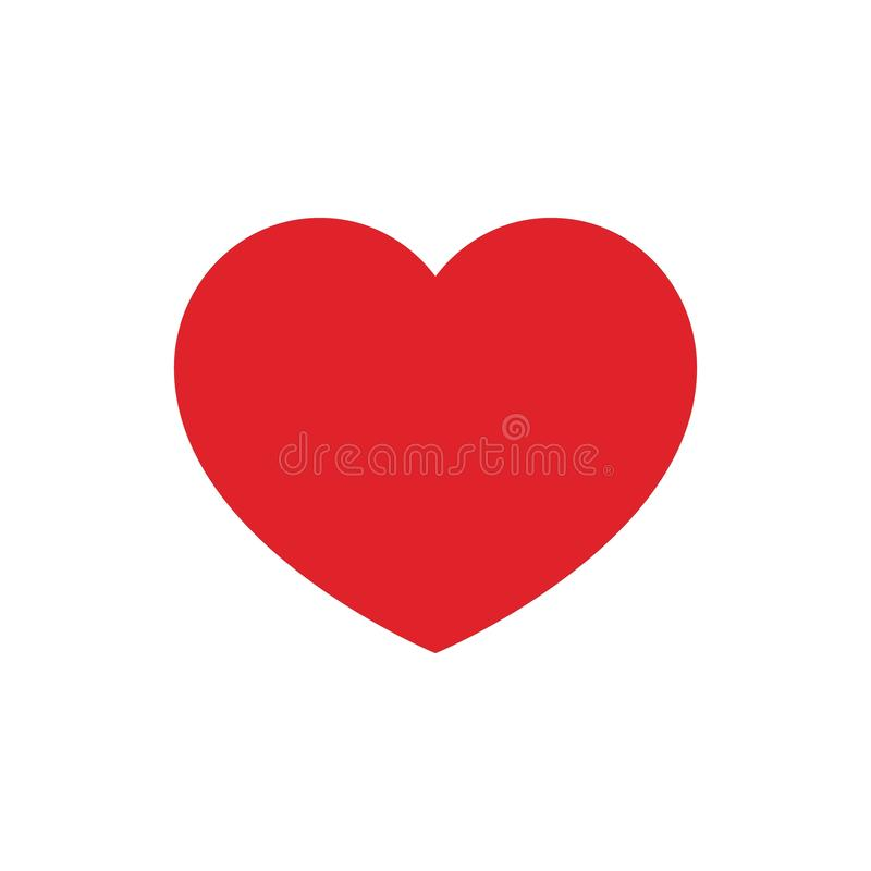 Heart, Icon of love, human health, Suit of playing cards. Valentine`s Day sign. Red heart icon on white background. Vector royalty free illustration