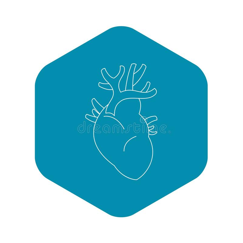 Heart icon, outline style stock illustration