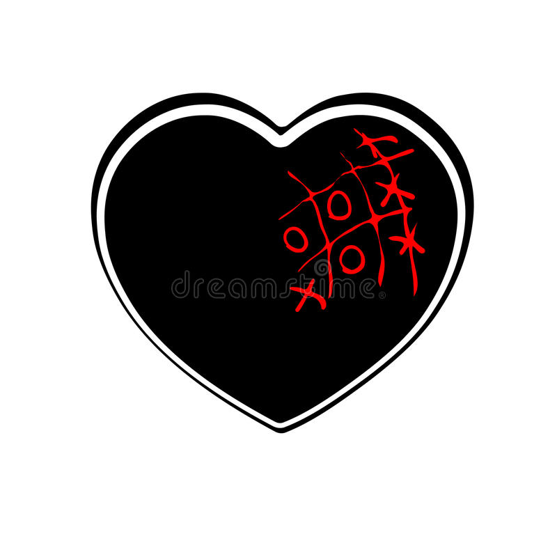 Heart icon, outline, silhouette. Symbol of love, romance and relationships royalty free illustration