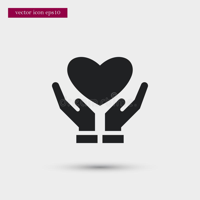 Heart icon. Simple romance element illustration. Valentine symbol design from love collection. Can be used in web and mobile vector illustration