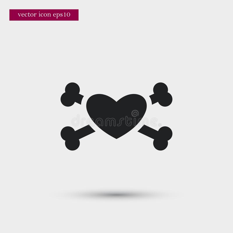 Heart icon. Simple romance element illustration. Valentine symbol design from love collection. Can be used in web and mobile royalty free illustration