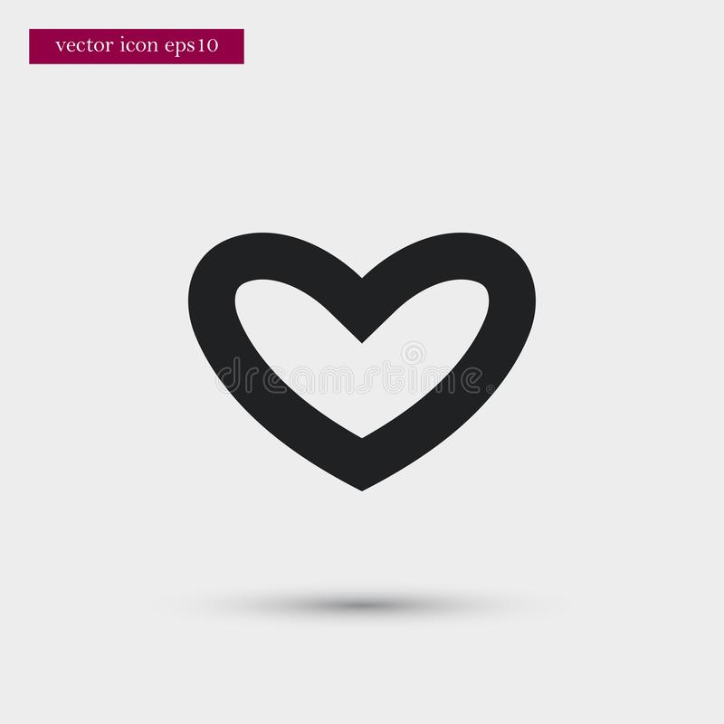 Heart icon. Simple romance element illustration. Valentine symbol design from love collection. Can be used in web and mobile stock illustration