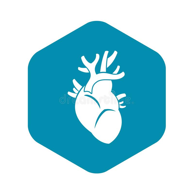 Heart icon, simple style royalty free illustration