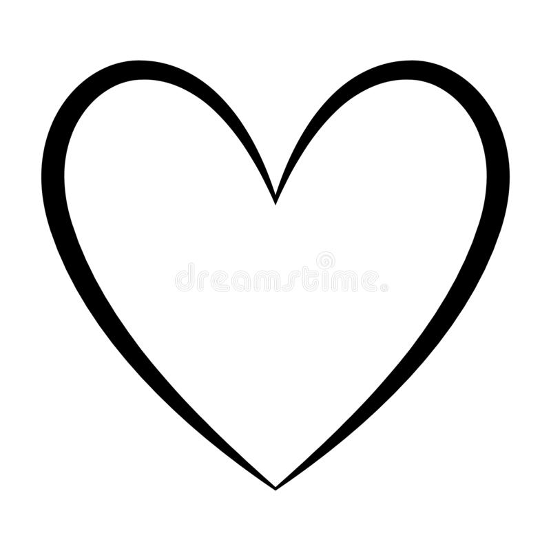 Heart. Icon or symbol isolated on white background. Love, romance and relationship. Illustrations royalty free illustration
