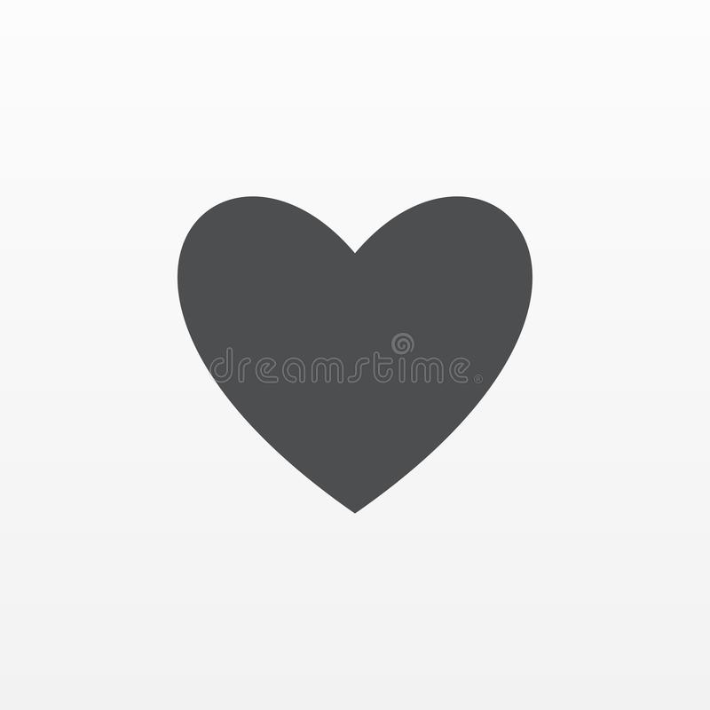Heart icon vector. Flat love symbol isolated on white background. Trendy internet concept. Modern si royalty free illustration