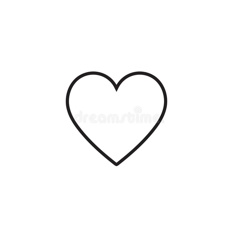Heart icon vector illustration. Linear symbol with thin outline vector illustration