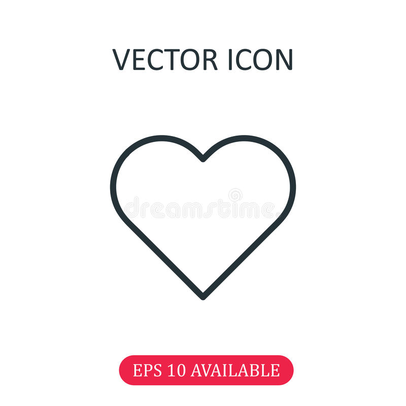 Heart icon vector. Isolated, graphic royalty free illustration