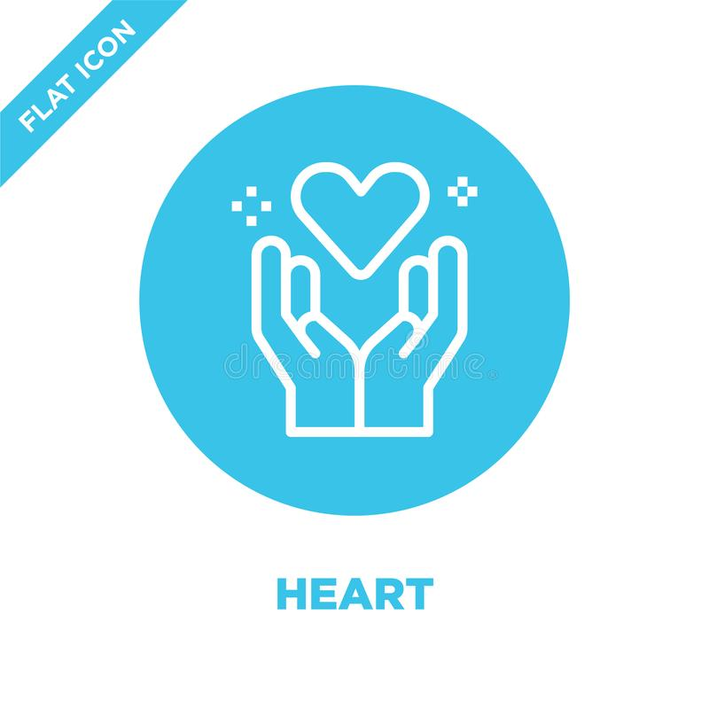 heart icon vector from love collection. Thin line heart outline icon vector  illustration. Linear symbol for use on web and mobile royalty free illustration