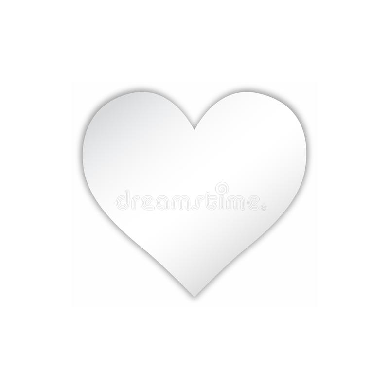Heart Icon Vector. Love symbol. Valentine's Day sign, emblem isolated on white background with shadow, Flat style for graphic and. Web design, logo vector illustration
