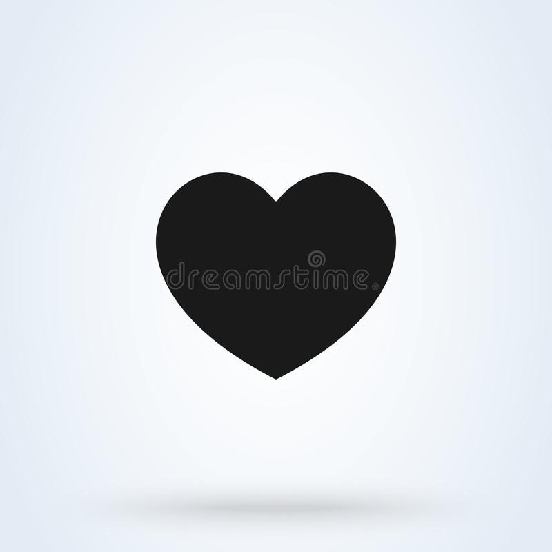 Heart Icon Vector. Perfect Love symbol. Valentine`s Day sign vector illustration