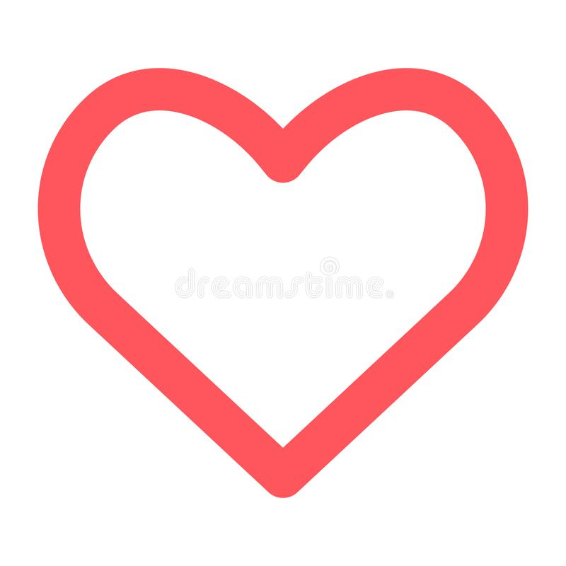 heart icon on white background. vector symbol EPS10 royalty free illustration
