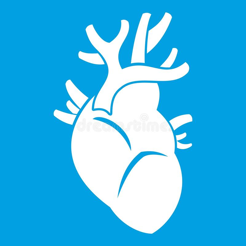 Heart icon white stock illustration