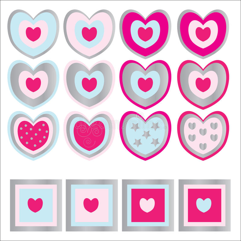 Download Heart Icons stock illustration. Image of white, icons - 13161535