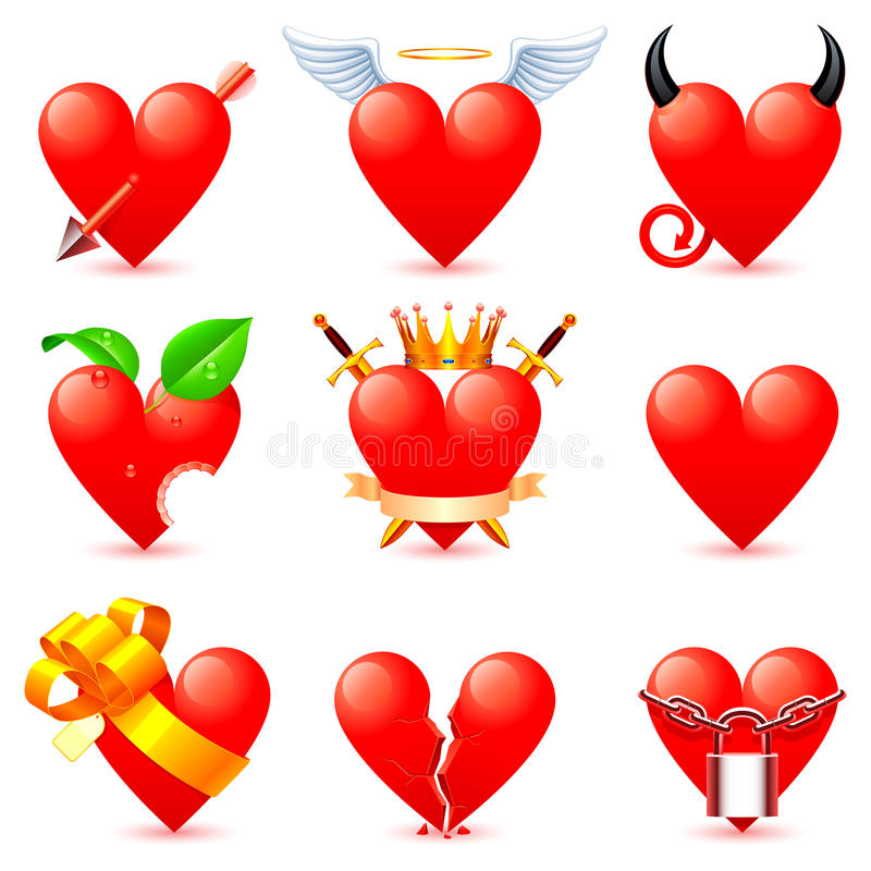 Download Heart Icons. Royalty Free Stock Photography - Image: 17940007
