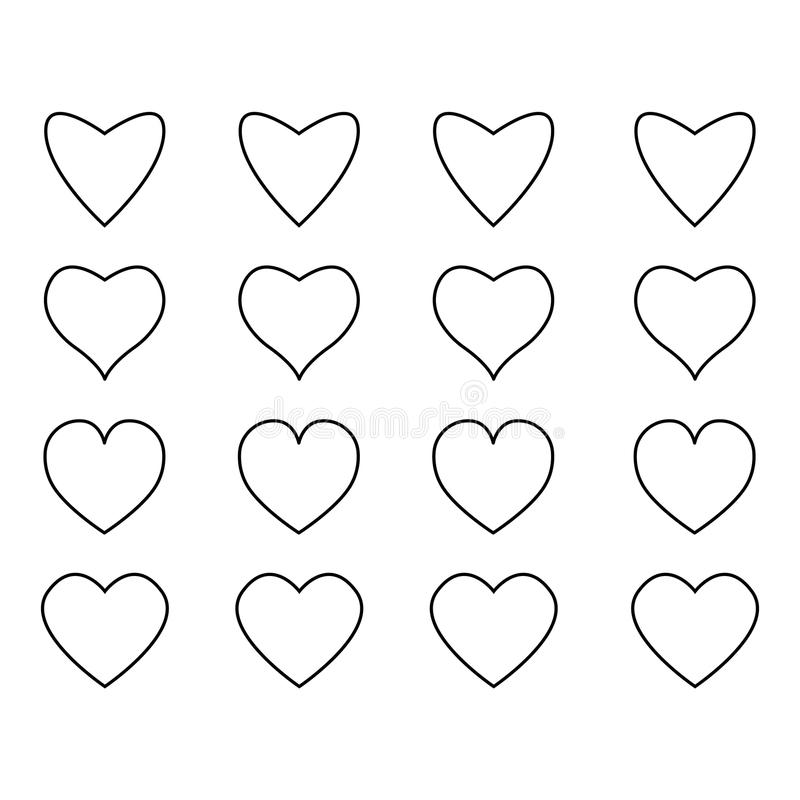 Heart icons, concept of love vector illustration