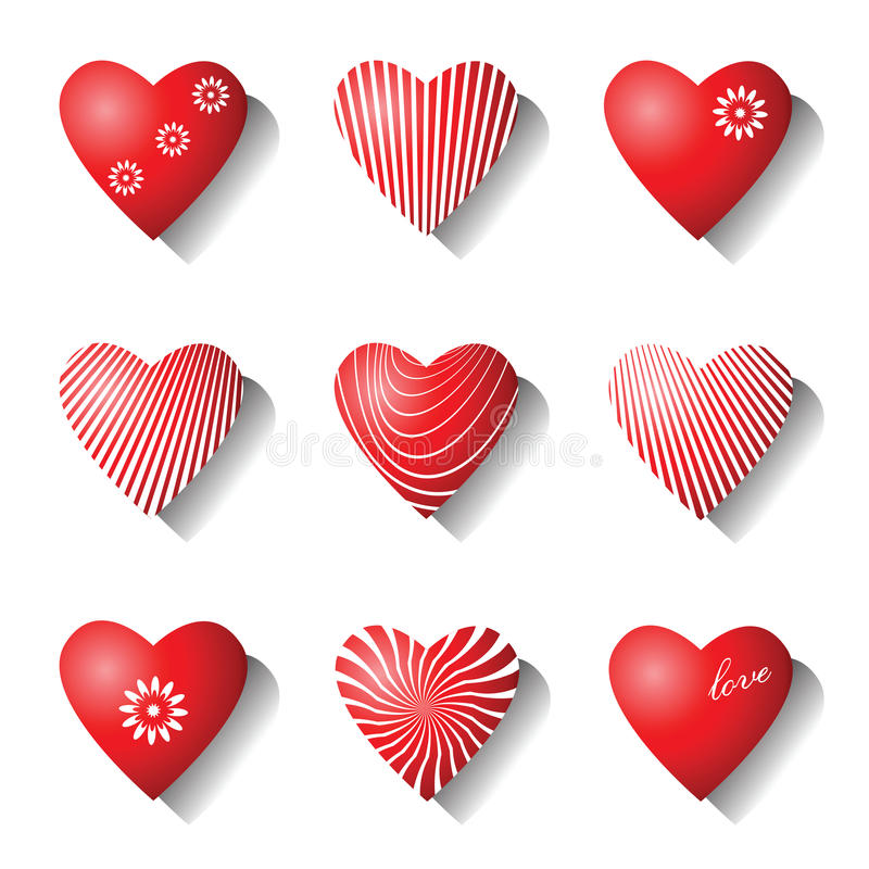 Download Heart Icons. Valentine Design Elements. Stock Image - Image: 28819421