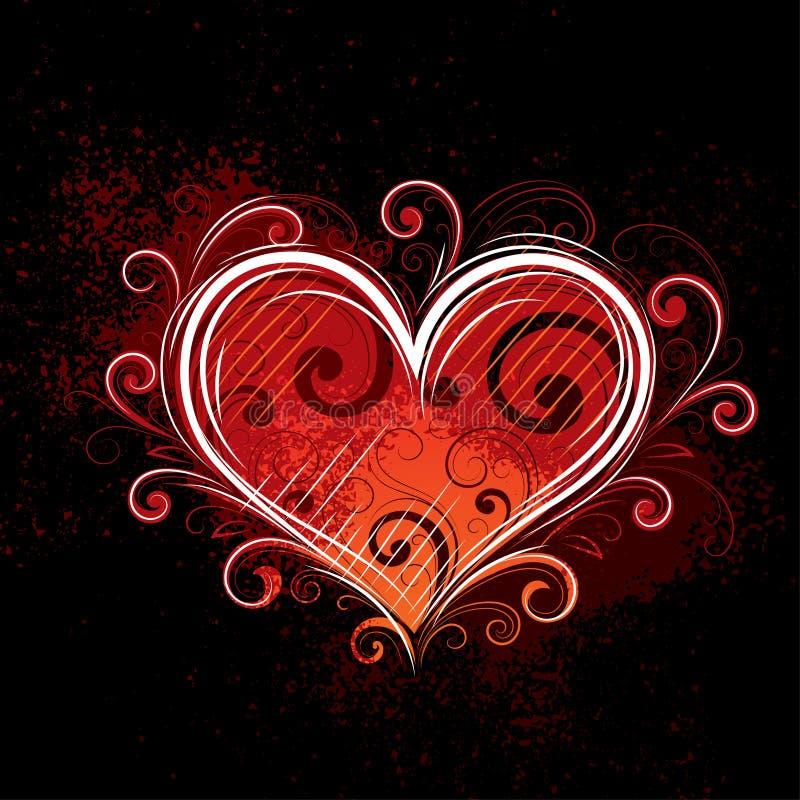 Heart illustration royalty free stock photos